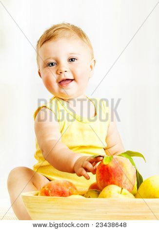 Little Baby Choosing Fruits