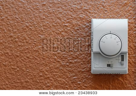Air Conditioning Control Panel On Wall