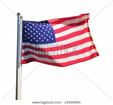 American Flag in the Wind
