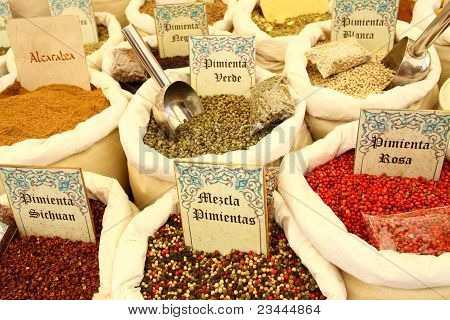 Different kind of tea and spices