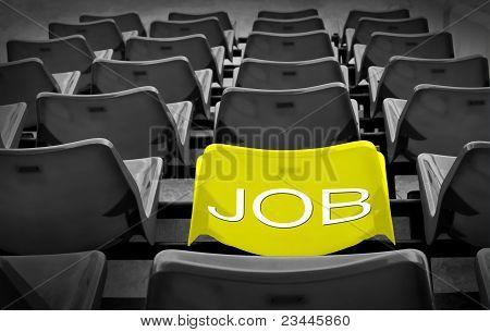 Yellow Seat With New Job Wording