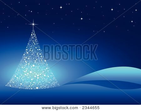 Starry Christmas Tree.Eps