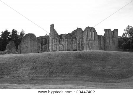 View of Kildrummy Castle