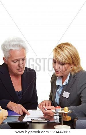 Senior Woman Getting Financial Advice
