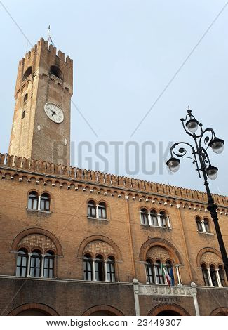 Treviso (veneto, Italy) - Historic Palace With Tower
