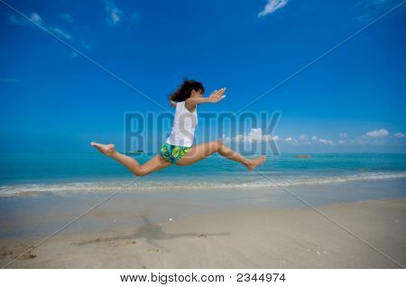 Great Leap At The Beach