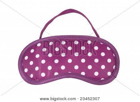 pink polka-dot eyemask