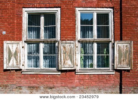 Old outworn windows