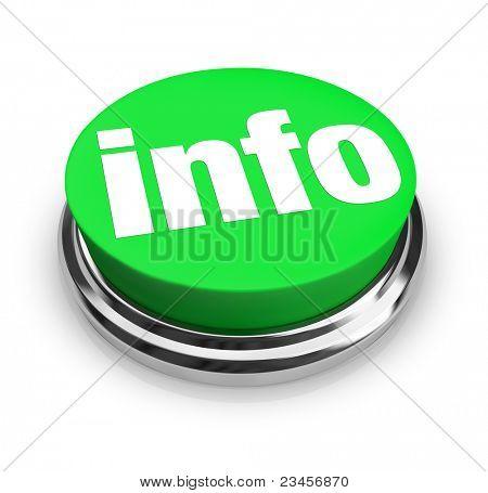 Eine grüne Taste mit dem Wort Info darstellt einen Weg, um weitere Informationen zur Beantwortung Ihrer Frage