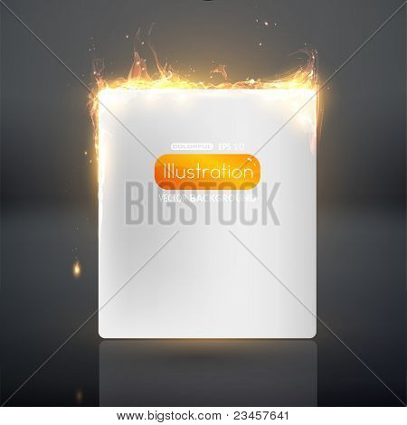 Burning paper. Vector eps 10.