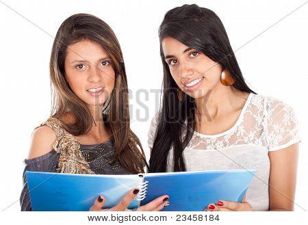 Two Active Happy Teenage Girls