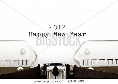 Typewriter 2012 Happy New Year