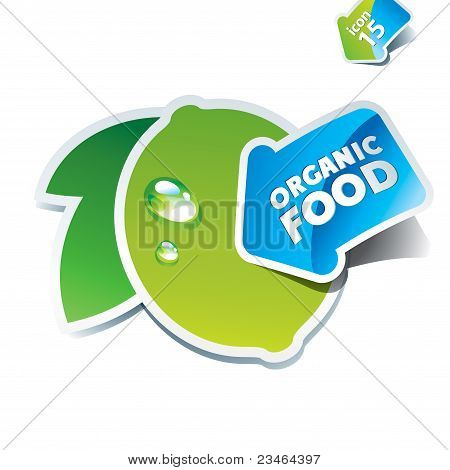 Icon Lime With The Arrow By Organic Food.