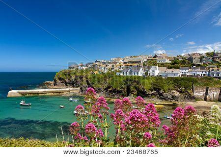 Bucht und Hafen von Port Isaac, Cornwall, England
