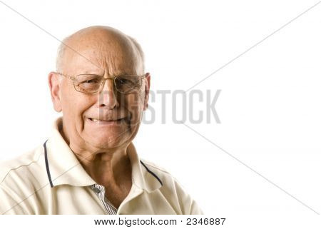 Unhappy Senior Man