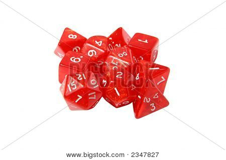 Red Role Playing Dice Set