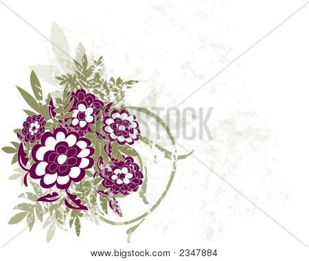 Color Flowers Illustration