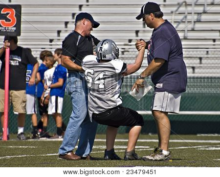 Little League Football Injured Player