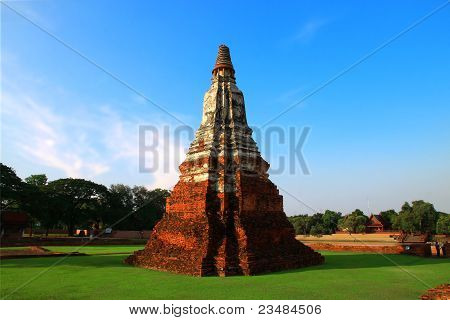 Thai temple, Buddha, Ayutthaya.