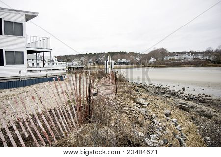 Beach In Maine in Winter