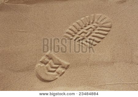 Imprint Of Shoe