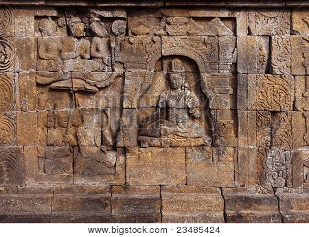 Borobudur temple relief