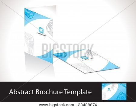 Abstract Blue Brochure Template