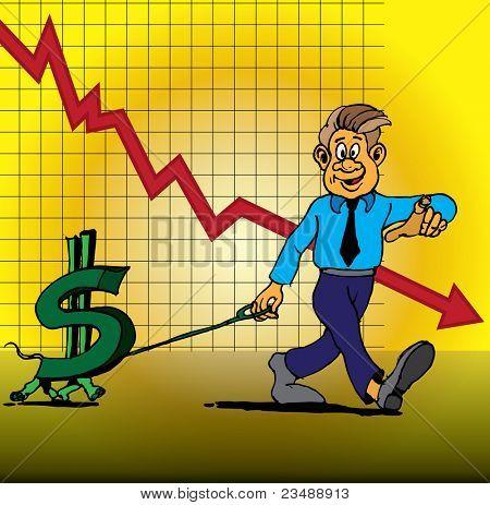 World financial crisis. Business concept.