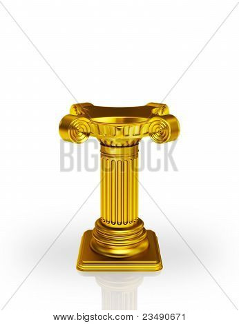 Golden pedestal
