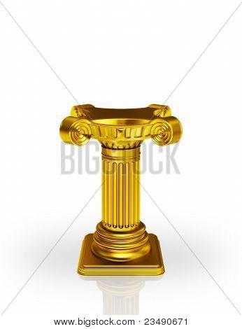 Golden pedestal