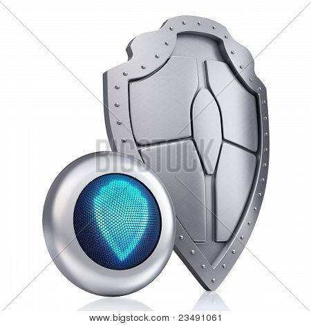 Shield digital concept
