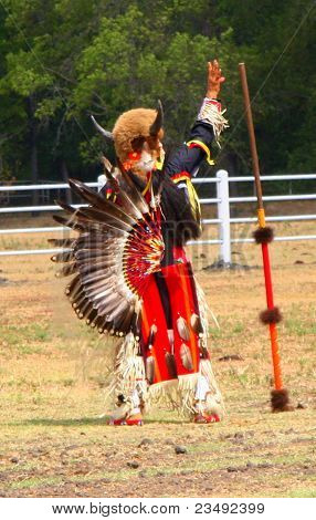 Native American Chief Blessing Sacred Ground