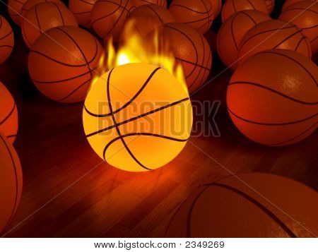 Fire Basketball Glow Ball