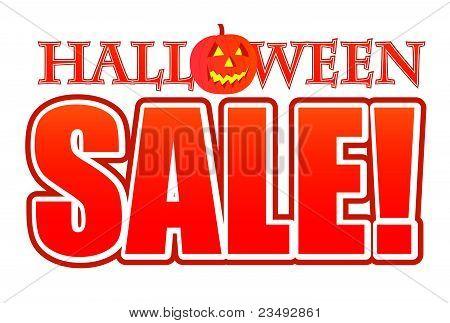 Halloween pumpkin sale sign illustration