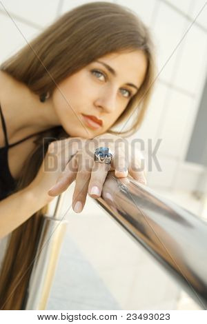 Portrait Of Elegantly Beautiful Young Woman