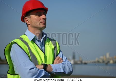 Thoughtful Engineer On Site