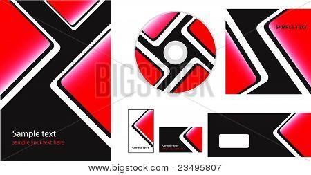 Vector folder, business card and envelope