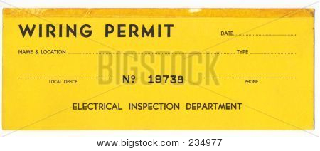Old Wiring Permit