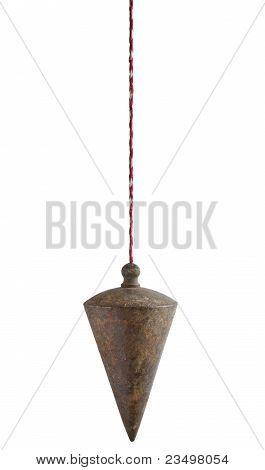 Plumb Bob On White Background
