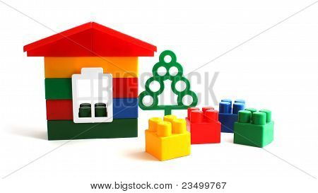 House Constructed Of Toy Blocks