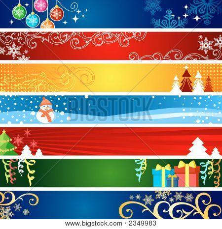 Banners de Navidad con espacio para su texto