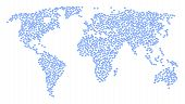 Worldwide Composition Map Combined Of Diamond Icons. Vector Diamond Scattered Flat Pictograms Are Co poster
