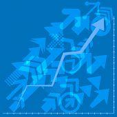 Success Arrows, Vector. Financial Arrow Graphs. Arrows Directed Diagonally Up Business Concept. poster