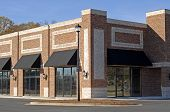 pic of commercial building  - Facade of a New Commercial Building with Retail and Office Space for Lease - JPG