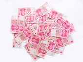stock photo of zedong  - close up of a heap of chinese yuan - JPG