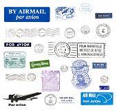 Постер, плакат: Винтажные почтовые марки