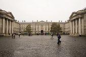 Trinity College In Rain