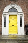 Yellow Georgian Door