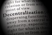 Fake Dictionary, Dictionary Definition Of The Word Decentralization. Including Key Descriptive Words poster