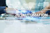 Automation Concept As An Innovation, Improving Productivity, Reliability And Repeatability In Techno poster
